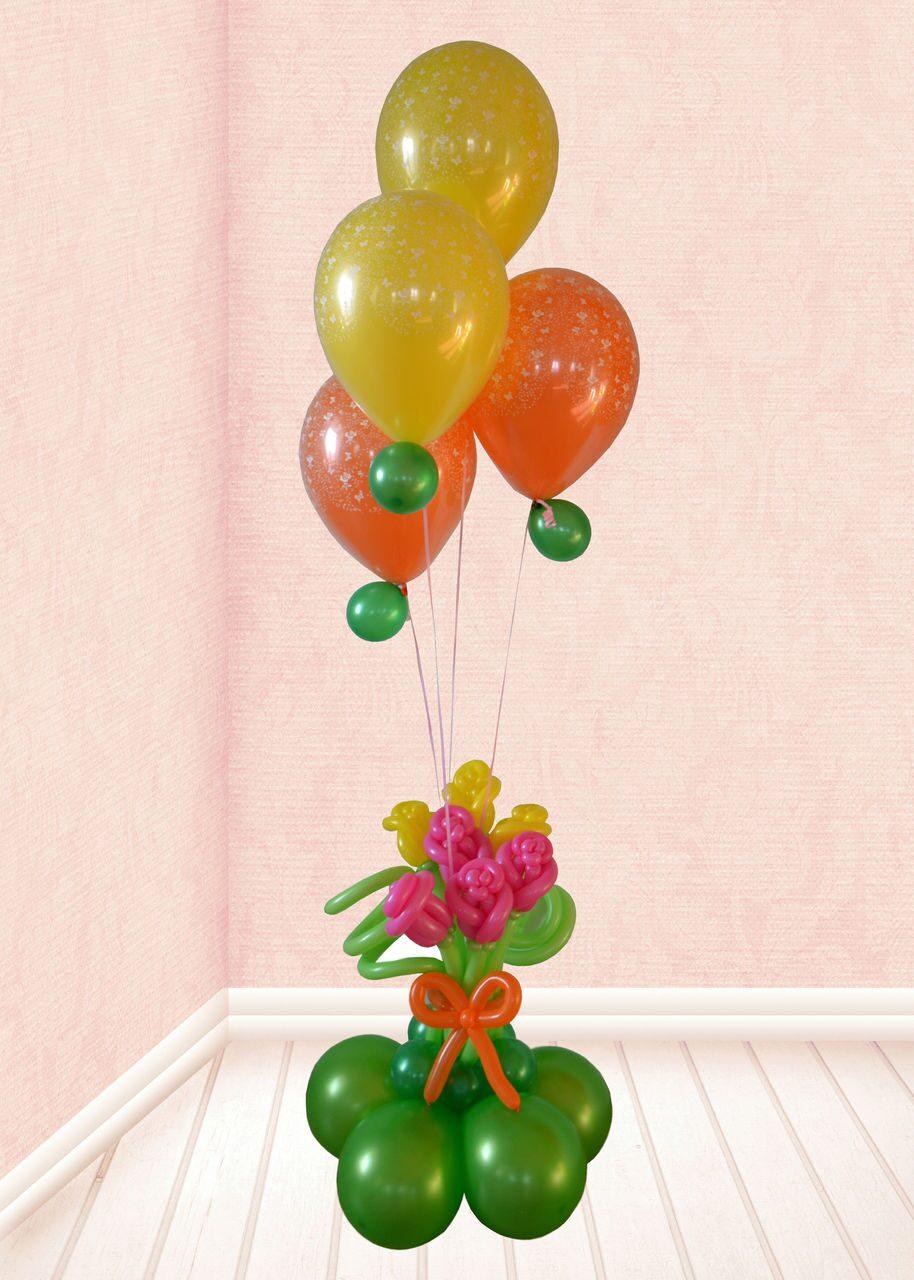 Как сделать фонтан из шаров своими руками фото
