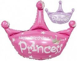 "Шар-фигура (80см) ""Happy Birthday Princess"""